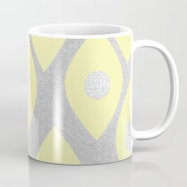 Eye Pattern Yellow Coffee Mug