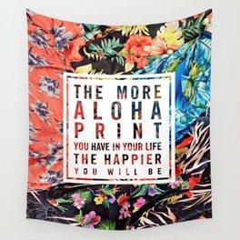 Aloha Print Life Wall Tapestry