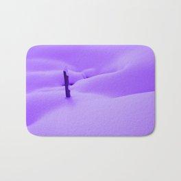 Purple Snow Bath Mat