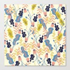 Pastel Floral Pattern Canvas Print