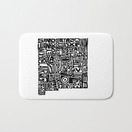 Typographic New Mexico Bath Mat
