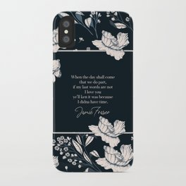 When the day shall come that we do part... Jamie Fraser iPhone Case