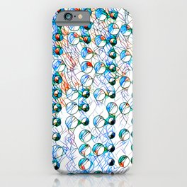 Glass stain mosaic 10 - bubbles, by Brian Vegas iPhone Case