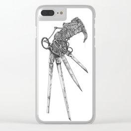 Scissorhand (BW-L) Clear iPhone Case