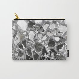 Silver Mirrored Mosaic Carry-All Pouch