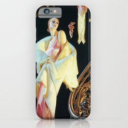 Joseph Christian Leyendecker - Couple Going Down The Stairs - Digital Remastered Edition iPhone Case