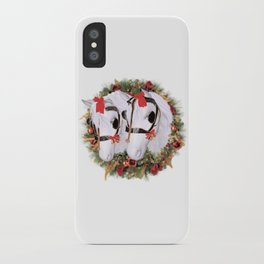 Snowflake and Holly iPhone Case
