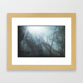 The Faded Day - surreal landscape photography Framed Art Print