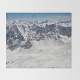 Snowy Alps Throw Blanket