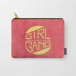 Girl Gang - Watercolour Illustration of Bold Block Text Carry-All Pouch