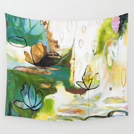 """Rise Above"" Original Painting by Flora Bowley Wall Tapestry"