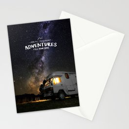 Jobs fill your pockets, adventures fill your soul. Stationery Cards