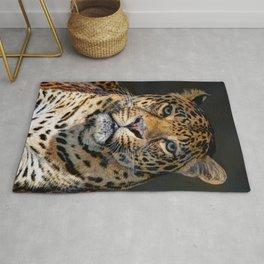 Portrait of Leopard Rug