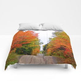 Rolling Through the Hills of Autumn Comforters