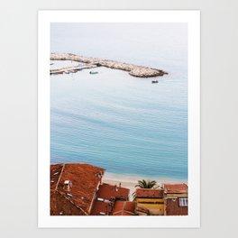 Menton Seaside - Côte d'Azur Art Print