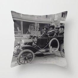 Madame CJ Walker enjoying her wealth Throw Pillow