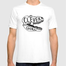 Clever Girl MEDIUM White Mens Fitted Tee