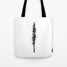 Alone in the forest - a solitary, towering Douglas Fir tree Tote Bag
