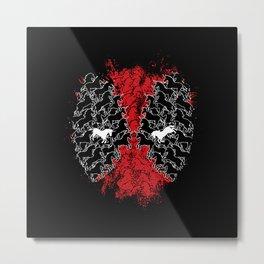 Dead Hero Mask Metal Print