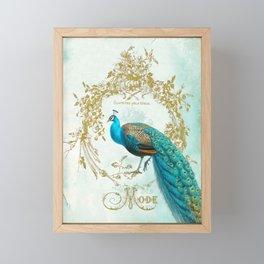 Peacock Mode Framed Mini Art Print