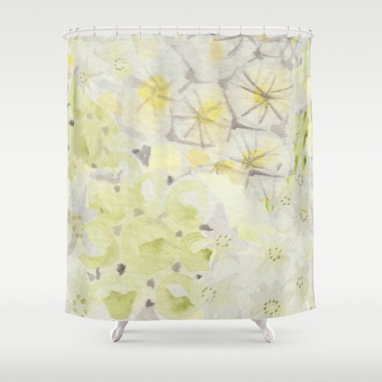 Lemon Abstract Shower Curtain