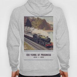 100 Years of Progress, 1835-1935. GWR Vintage Travel Poster Hoody