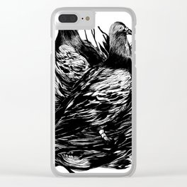 Carrier Pigeons Clear iPhone Case