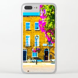 London Terraced Houses Clear iPhone Case