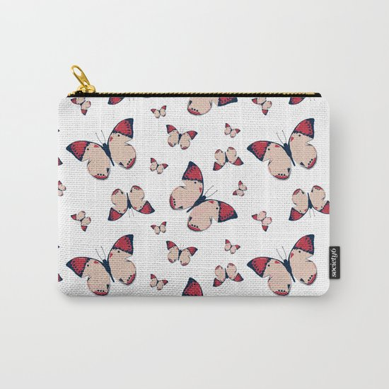 Spring Butterfly (Pattern) Carry-All Pouch