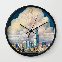 Vintage Boston Massachusetts Travel Wall Clock