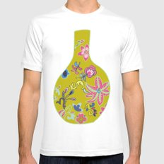 Chinese Pot White MEDIUM Mens Fitted Tee