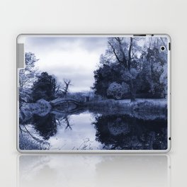 Chinese Bridge at Wrest Park in Blue Laptop & iPad Skin