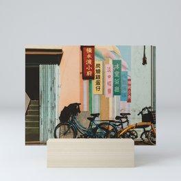 Bicycle Shadows Mini Art Print