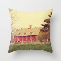 american beauty Throw Pillows featuring American Beauty Vol 18 by Farmhouse Chic