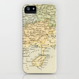 Vintage Map of The South Of China iPhone Case