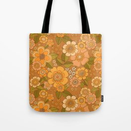 Flower power soft Apricot Tote Bag