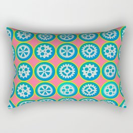 Gearwheels pattern Rectangular Pillow
