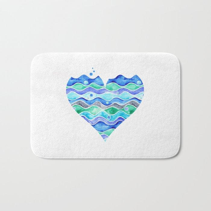 A Sea of Love (white) Bath Mat