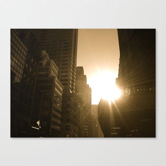 Sundown on Fifth Ave. Canvas Print