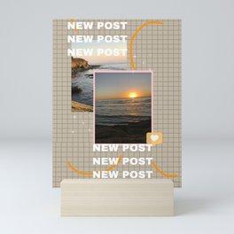 Insta story new post Mini Art Print