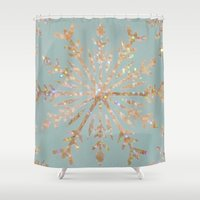 crystal Shower Curtains featuring Crystal by Françoise Reina