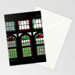Room with Stained Glass Windows, Qavam House, Shiraz, Persia, Iran Stationery Cards
