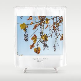 Autumn grapes Shower Curtain