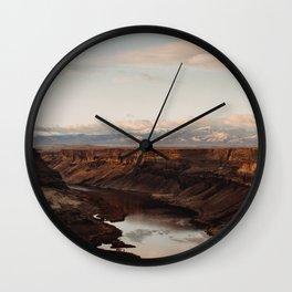 Snake River, Idaho - Scenic Desert Canyon Wall Clock