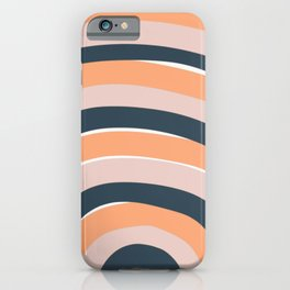 Rainbow stripes minimal art iPhone Case