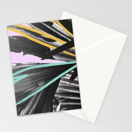 Fan Service I - Tropical Palm Leaves Modern Mixed Media Photography Illustration Stationery Cards