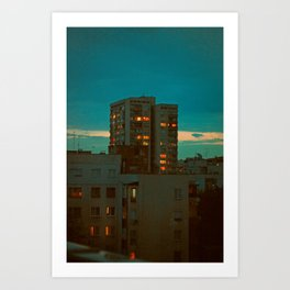Counting Cubes Art Print