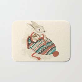 cozy chipmunk Bath Mat