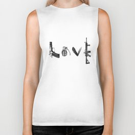 All's Fair in Love and War Biker Tank