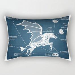 Steampunk Pegasus Rectangular Pillow